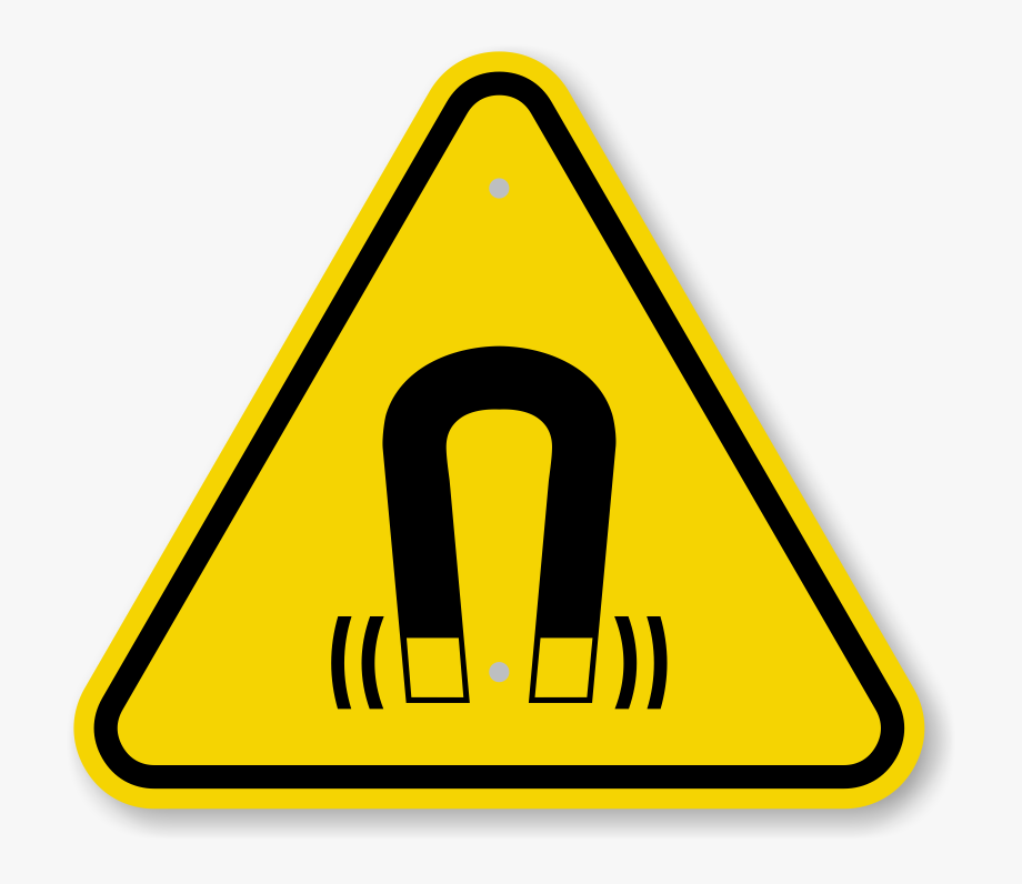 Safety warning clipart clip freeuse library Iso Strong Magnetic Field Warning Symbol Sign - Explosion ... clip freeuse library