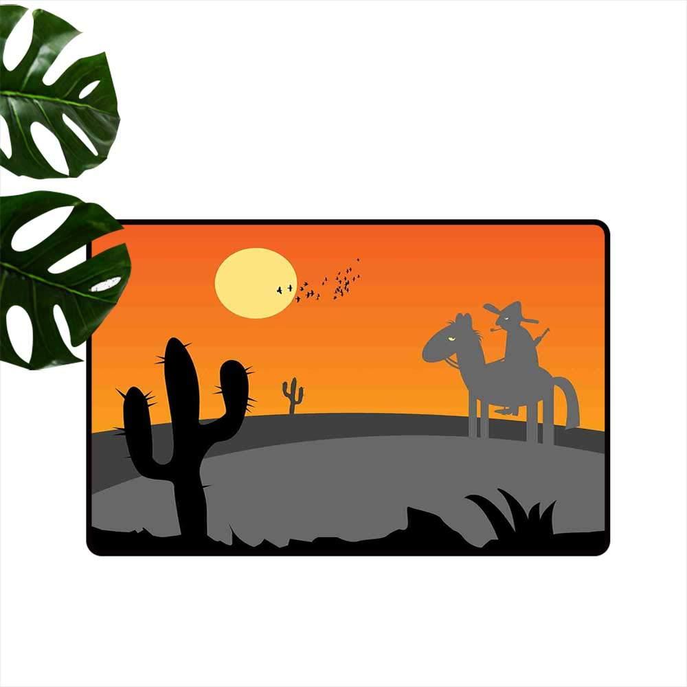 Saguaro in dirt clipart banner download Amazon.com : Anzhutwelve Southwestern,Entry Rug Cartoon ... banner download