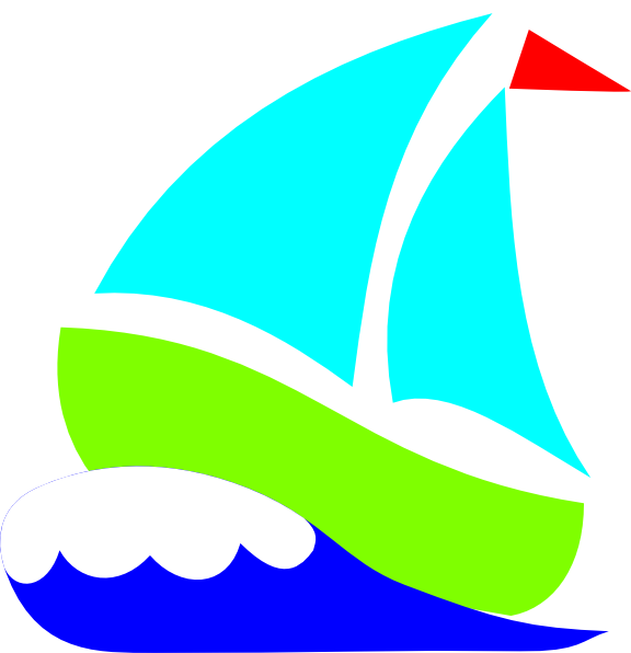Green Sailboat Clip Art at Clker.com - vector clip art online ... picture free