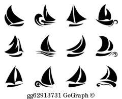 Sailboat clipart free jpg black and white download Sailboat Clip Art - Royalty Free - GoGraph jpg black and white download