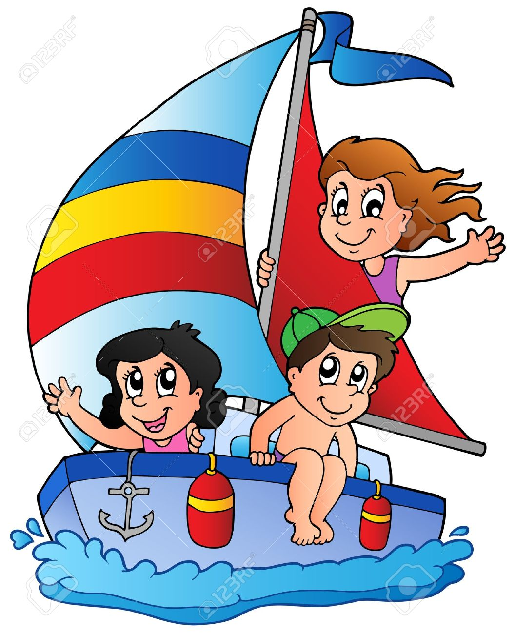 Sailboat clipart with people clipart freeuse Pictures Of Cartoon Boats | Free download best Pictures Of ... clipart freeuse