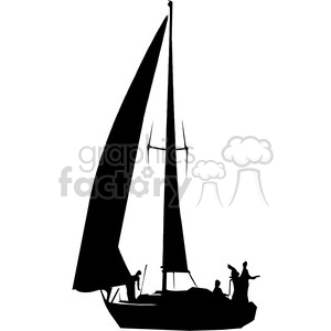 Sailboat clipart with people graphic library library sailboat silhouette with people clipart. Royalty-free clipart # 394853 graphic library library