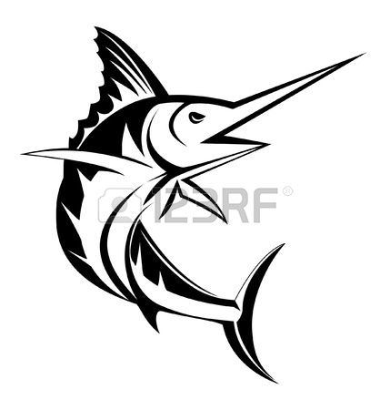 Sailfish clipart black and white black and white Sailfish Stock Illustrations, Cliparts And Royalty Free ... black and white