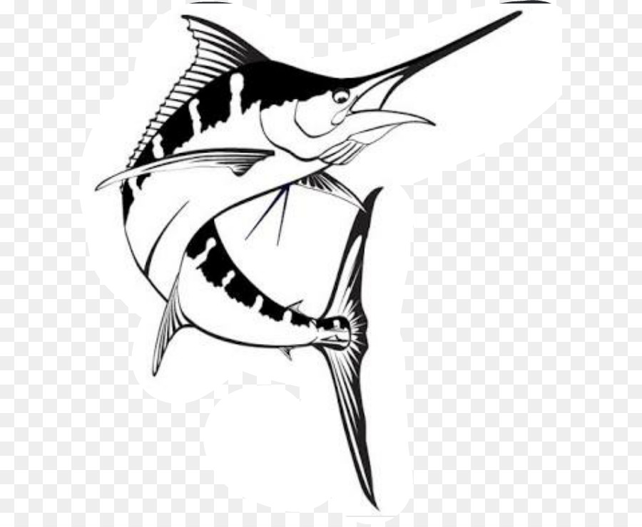 Sailfish clipart black and white