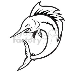 Sailfish clipart black and white clip library library black and white sailfish jumping cartoon clipart. Royalty-free clipart #  388133 clip library library