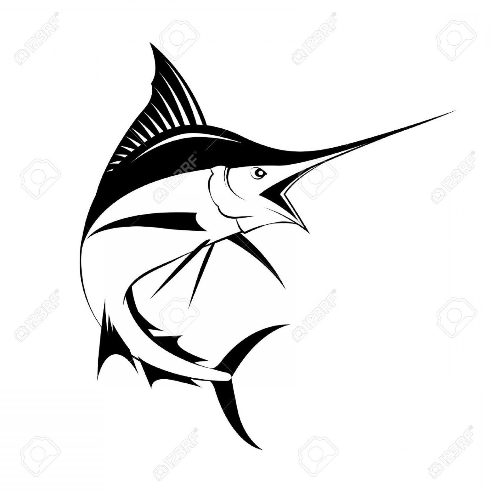 Sailfish clipart black and white svg library library Best Hd Marlin Fish Vector Cdr | SOIDERGI svg library library