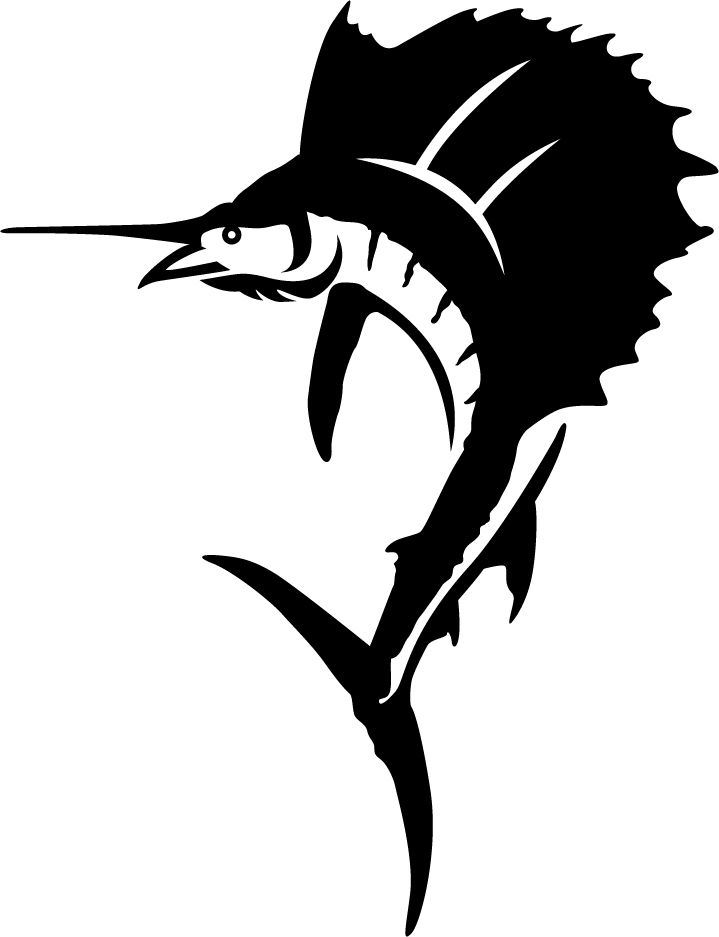 Sailfish clipart black and white svg free Free Sailfish Silhouette Cliparts, Download Free Clip Art ... svg free
