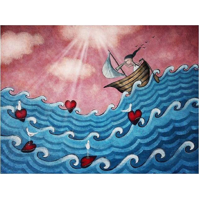 Sailing off the edge of the world clipart jpg library library The little boat of you and me, went sailing on the deep blue ... jpg library library