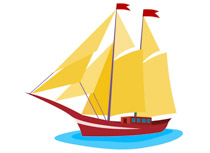 Yacht clipart images picture black and white stock Sailing boat with sails clipart » Clipart Station picture black and white stock