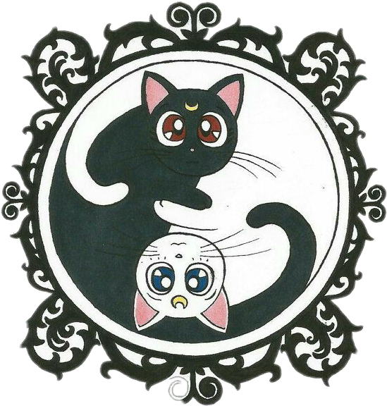 Sailor cat clipart banner stock Sailormoon Sailor luna artemis banner stock
