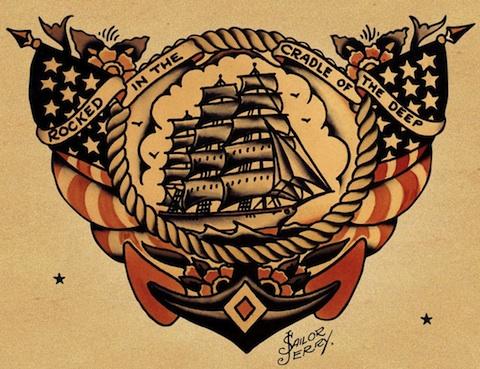 Sailor jerry banner freeuse stock 25 Sailor Jerry Tattoos to Rock Your World banner freeuse stock