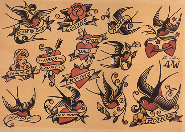 Sailor jerry graphic transparent library Tattoo Meanings - Swallows, Anchors, Sharks - Sailor Jerry graphic transparent library