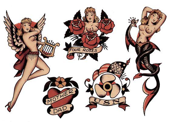 Sailor jerry clip art image download Sailor Jerry, Flash Sheet, T Shirt Design. Vulture Graffix Online ... image download