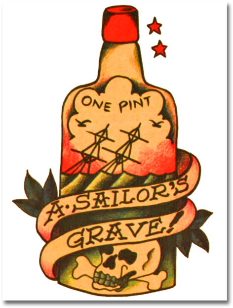 Sailor jerry clipart clip royalty free stock Sailors Grave - Sailor Jerry Tattoo - Download Clipart on ... clip royalty free stock