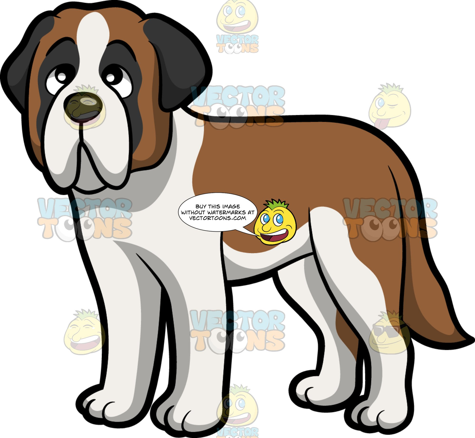 Saint bernard clipart banner free download A Sleepy Young St Bernard Dog banner free download
