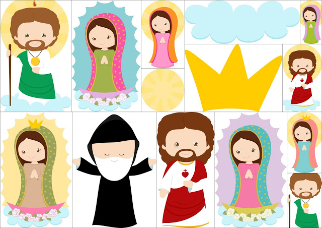 Saint clipart png stock Saint and Virgin Mary Clipart. | Oh My First Communion! png stock