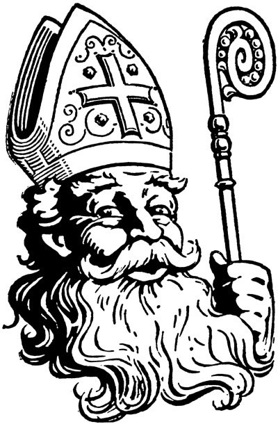 Saint nicolas clipart jpg black and white Saint nicolas clipart 4 » Clipart Portal jpg black and white