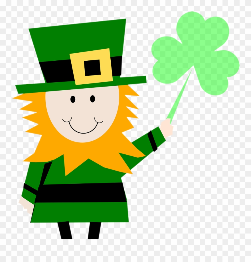 St patics clipart svg free library Leprechaun Shamrock - St Patrick Clipart - Png Download ... svg free library