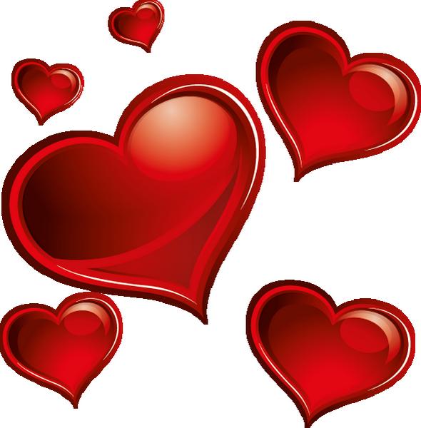 Saint valentin clipart clip black and white stock ♥ Coeurs png, tube St Valentin - Hearts clipart, vector ♥ clip black and white stock