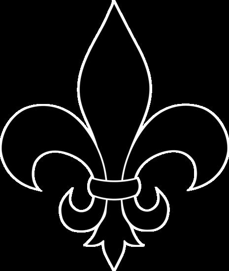 Saints fleur de lis clipart free vector black and white Free Saints Fleur De Lis Stencil, Download Free Clip Art ... vector black and white