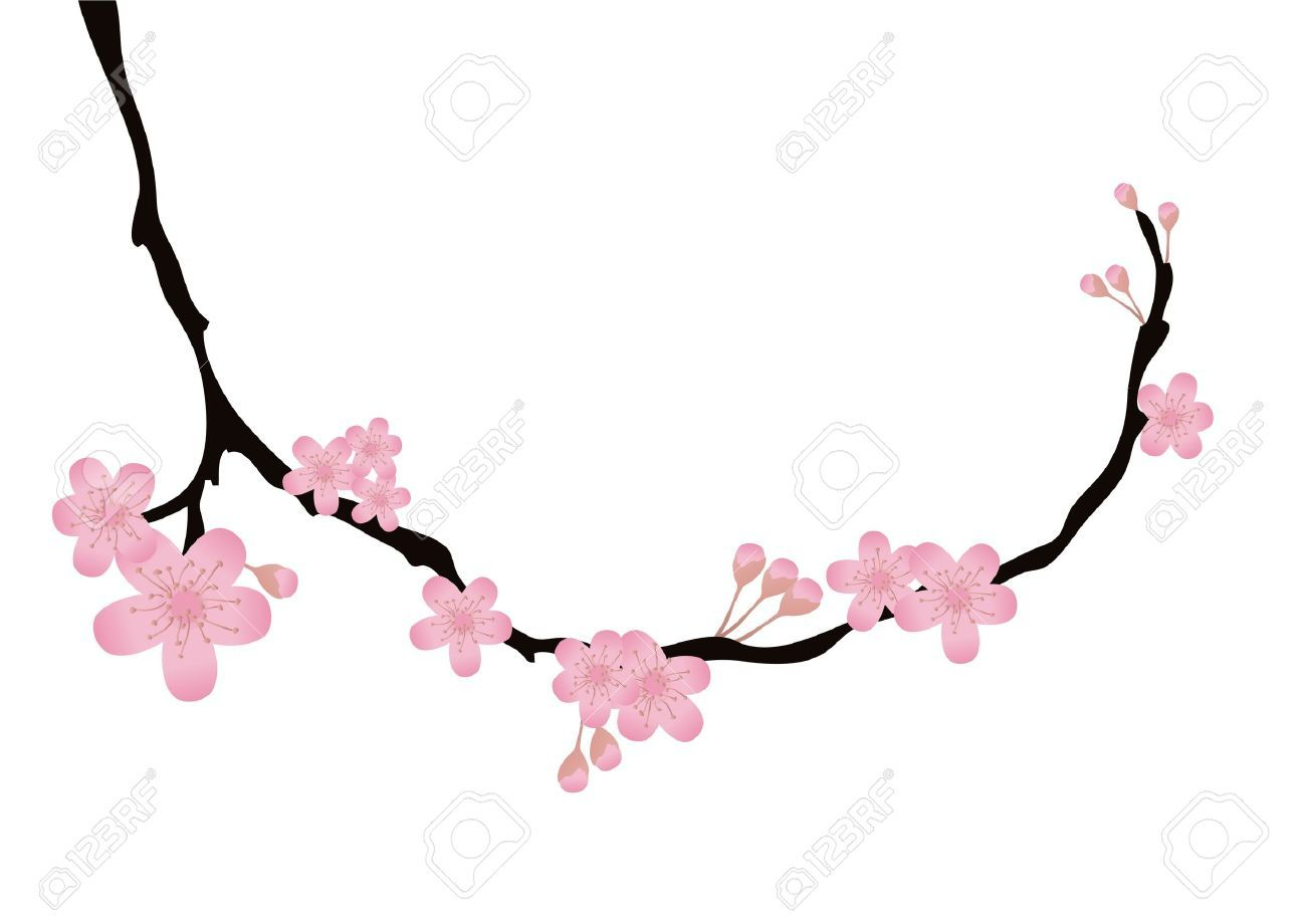 Sakura branch clipart picture royalty free stock Cherry blossom branch clipart 8 » Clipart Portal picture royalty free stock