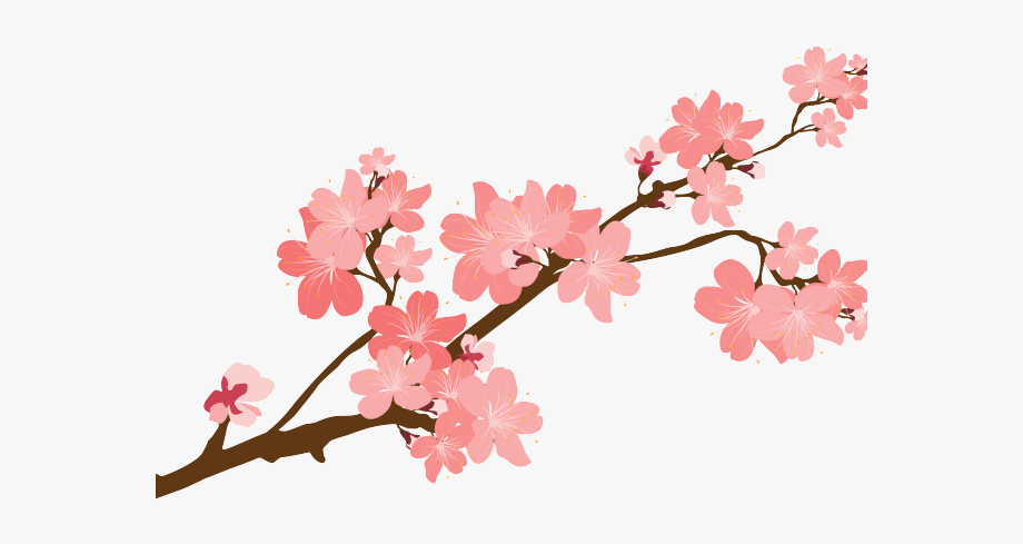Sakura branch clipart vector library stock Blossom Clipart Sakura Petal - Cherry Blossom Tree Branch ... vector library stock