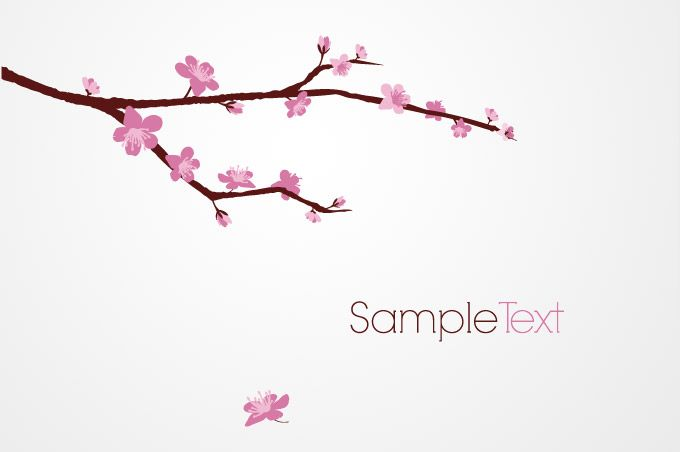 Sakura branch clipart banner freeuse stock Cherry Blossom Tree Clip Art | ... tree branch vector free ... banner freeuse stock