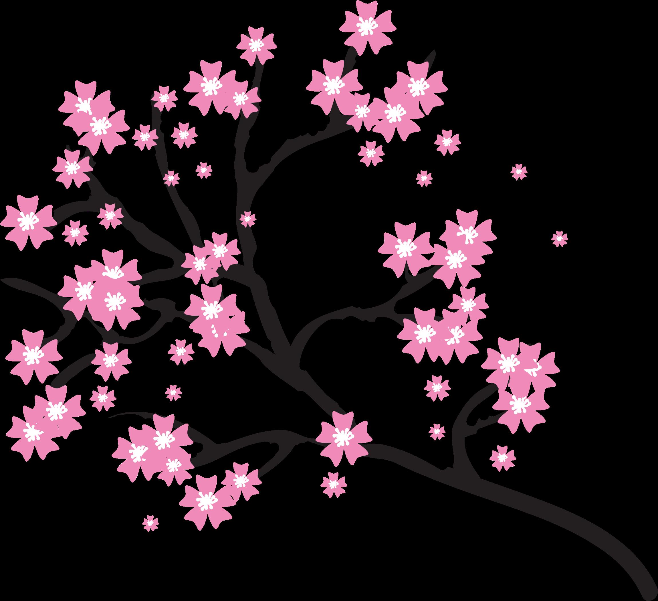 Sakura flower clipart picture black and white library Clipart - Cherry Blossoms picture black and white library