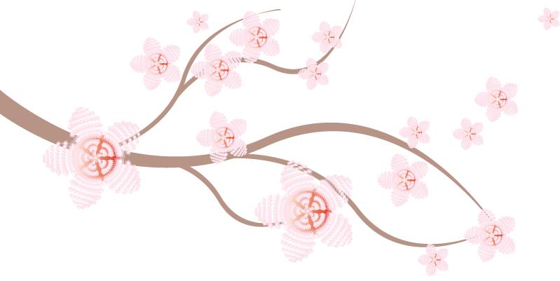 Sakura flower clipart png banner black and white stock Sakura flower clipart png - ClipartFest banner black and white stock