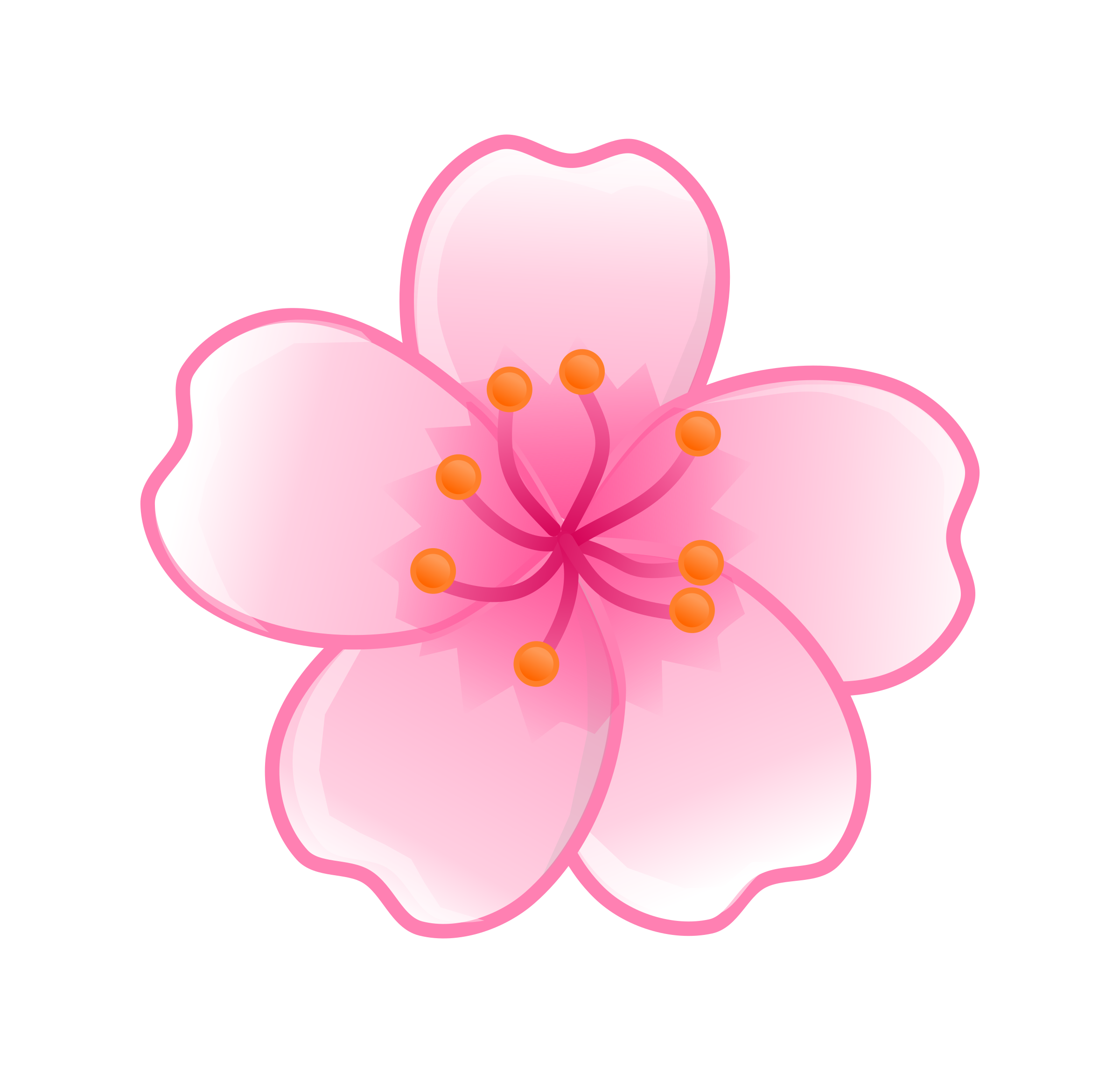 Free cartoon flower clipart clip art freeuse download Sakura flower clipart png - ClipartFest clip art freeuse download
