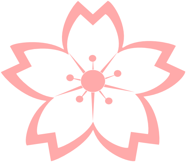 Sakura flower clipart png clip black and white stock Sakura Flower Clipart Png | Clipart Panda - Free Clipart Images clip black and white stock
