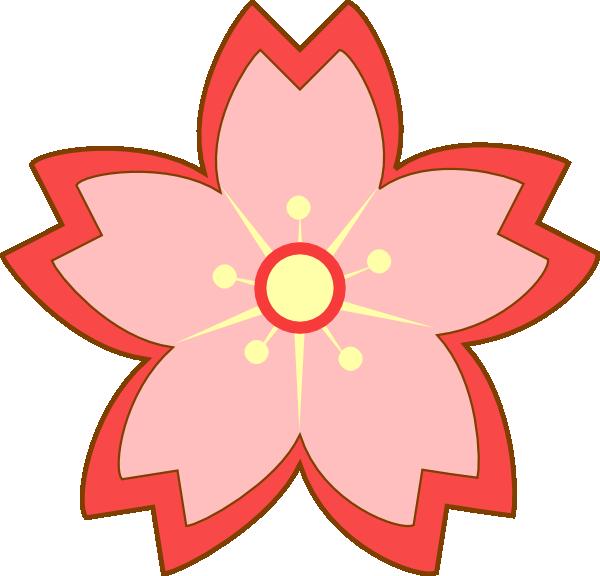Sakura flower clipart graphic Sakura Blossom Clip Art at Clker.com - vector clip art online ... graphic