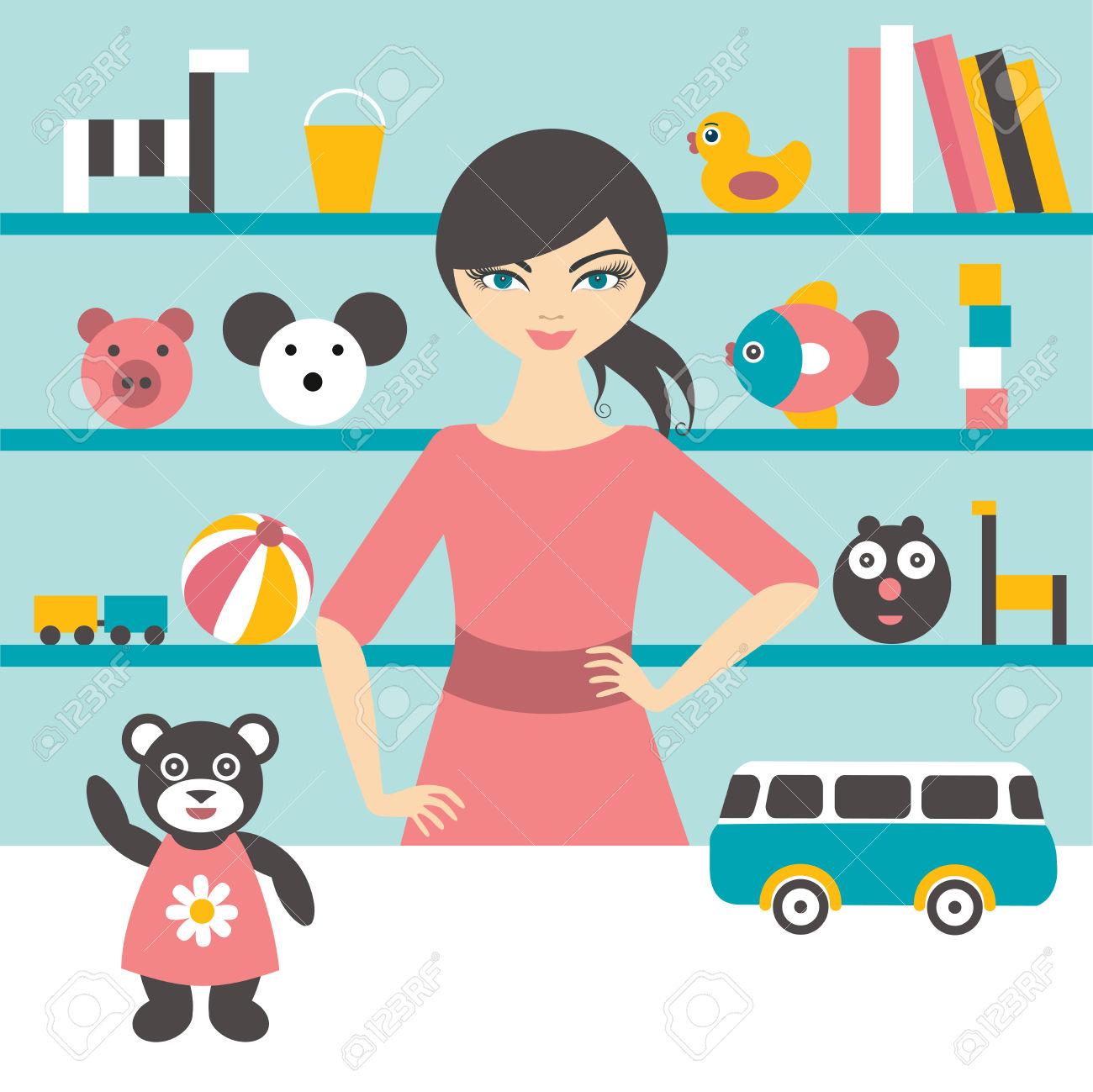 Sales clerk clipart jpg black and white stock 1,191 Sales Clerk Cliparts, Stock Vector And Royalty Free Sales ... jpg black and white stock