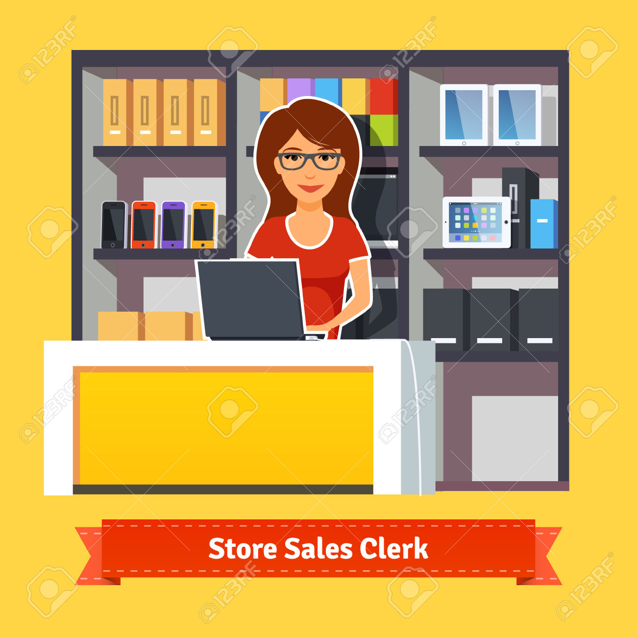 Sales clerk clipart clip royalty free stock 27,934 Sales Woman Stock Illustrations, Cliparts And Royalty Free ... clip royalty free stock