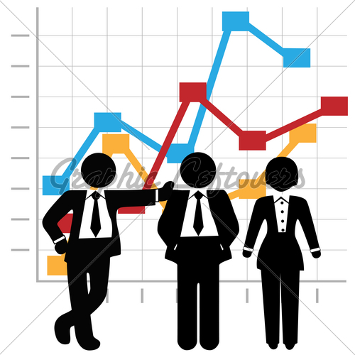 Sales people clipart clipart free stock Business People Sales Team And Profit Growth Graph Chart ... clipart free stock