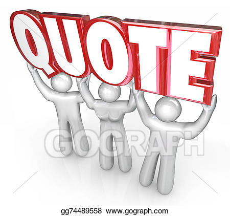 Sales quote clipart image royalty free Clipart - Quote 3d letters word lifted sales people request ... image royalty free