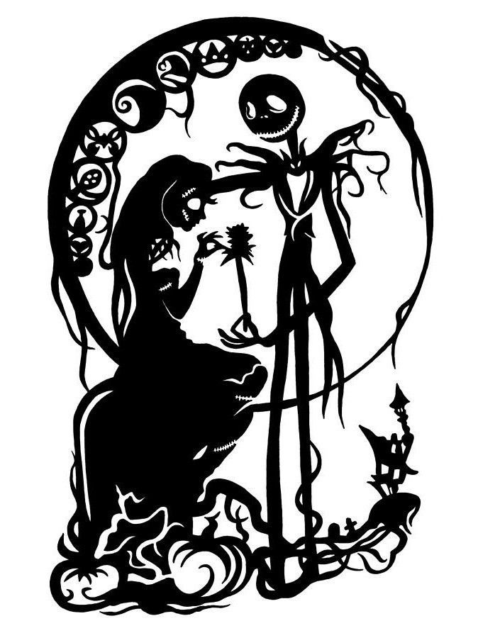Sally skellington clipart png black and white Jack and Sally; Skellington; Nightmare Before Christmas ... png black and white