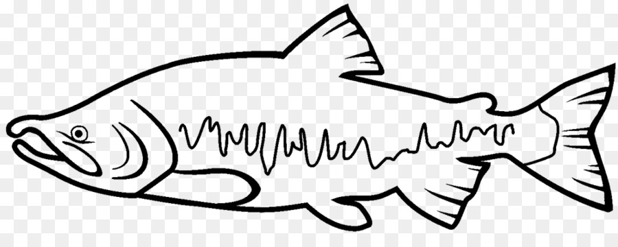 Salmon clipart line drawing picture royalty free download Cat Drawing clipart - Cat, Fish, White, transparent clip art picture royalty free download