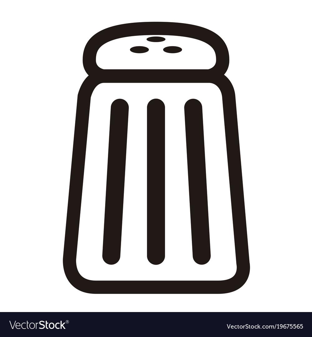 Salt icon clipart banner free library Salt shaker icon banner free library