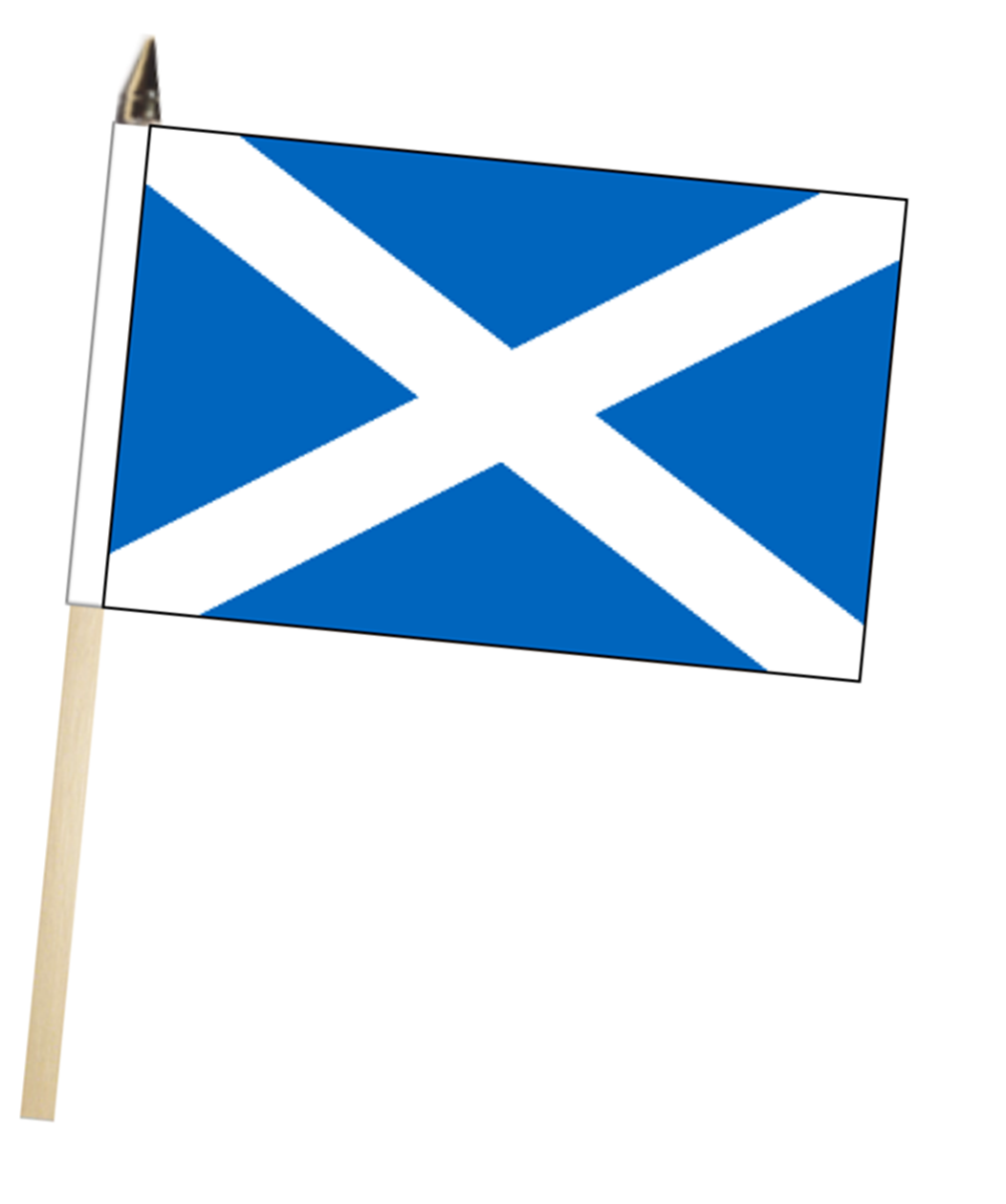 Scotland flag clipart graphic royalty free Scotland St Andrews Saltire Large Hand Waving Flag graphic royalty free
