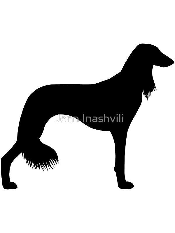 Saluki clipart graphic black and white library Saluki Silhouette(s)   Sticker   Dogs   Dog silhouette ... graphic black and white library