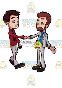 Salutation clipart png library stock Two Colleagues Greeting Each Other png library stock