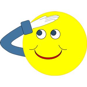 Salute clipart free clip art freeuse stock Smiley Salute clipart, cliparts of Smiley Salute free ... clip art freeuse stock