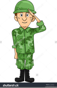 Clipart saluting royalty free Army Salute Clipart | Free Images at Clker.com - vector clip ... royalty free
