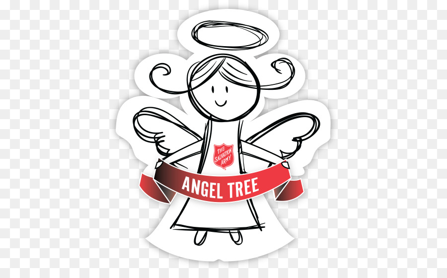 Salvation army angel tree clipart graphic free library Christmas Tree Art png download - 470*546 - Free Transparent ... graphic free library