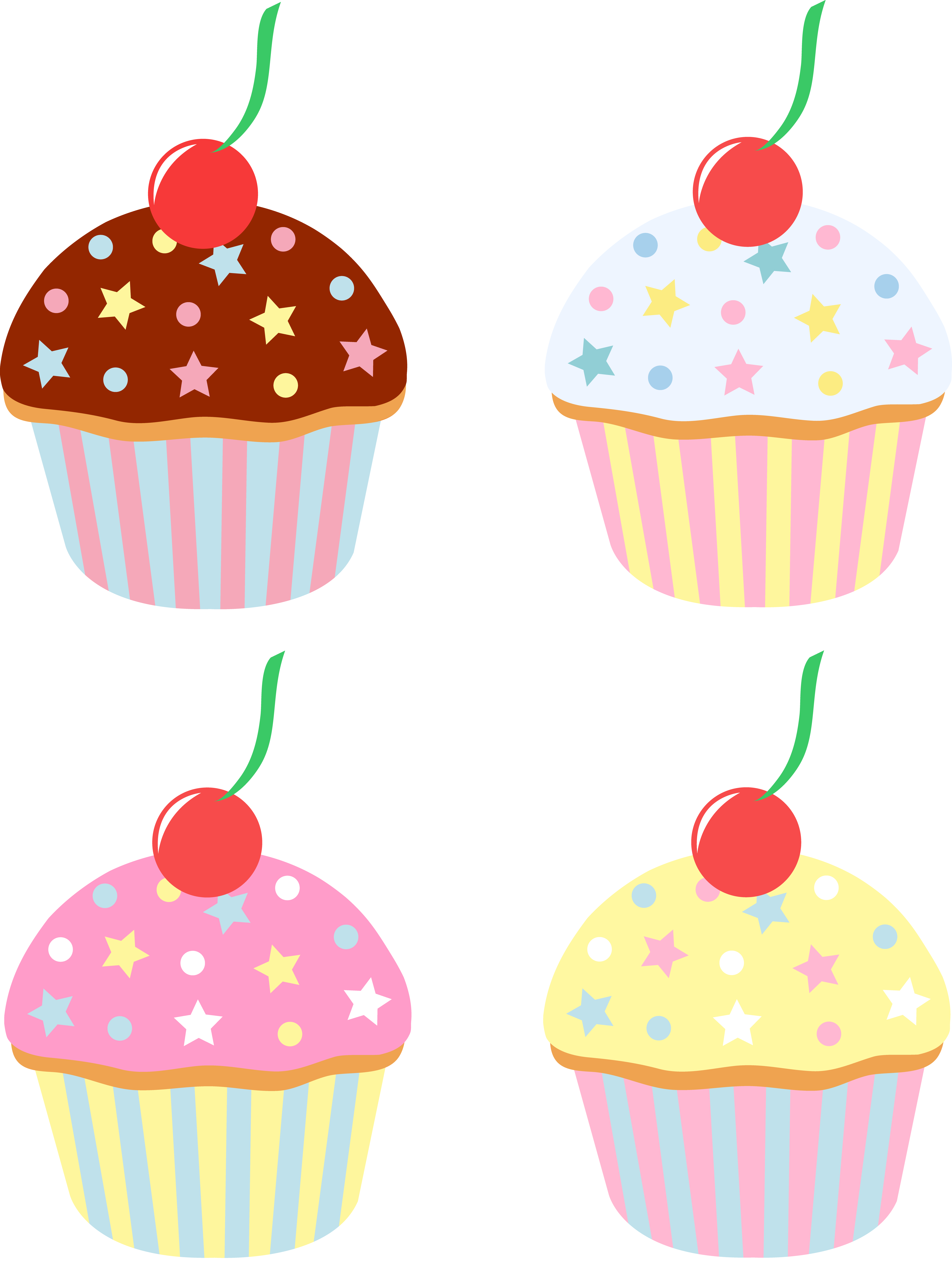Samples of cake clipart svg library stock Cute clip art of chocolate, vanilla, strawberry, and lemon ... svg library stock