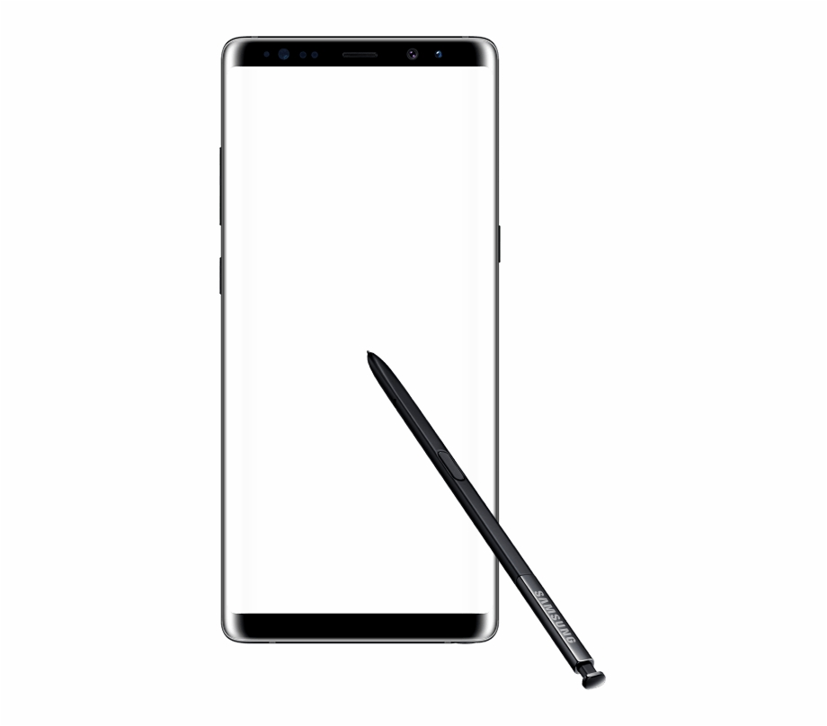 Samsung galaxy note 8 logo clipart picture transparent Front View Of A Semitransparent Galaxy Note8 In Landscape ... picture transparent