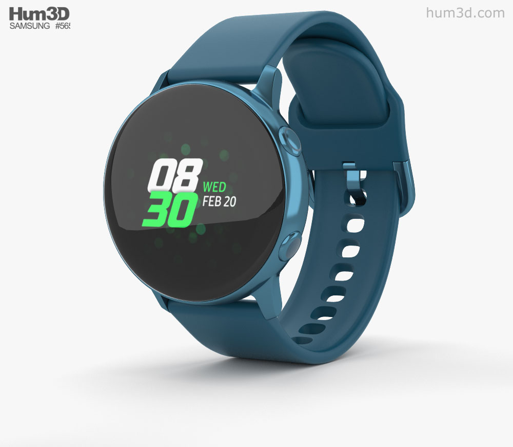 Samsung watch clipart clip free stock Samsung Galaxy Watch Active Green 3D model clip free stock
