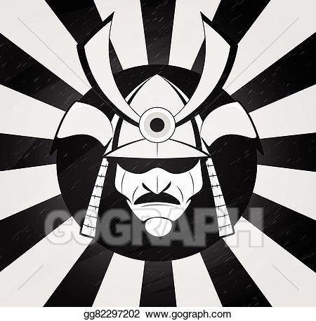 Samurai mask clipart