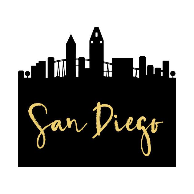 San diego california clipart jpg transparent stock SAN DIEGO CALIFORNIA DESIGNER SILHOUETTE SKYLINE ART jpg transparent stock